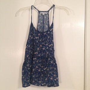 American Eagle floral baby doll crop tank